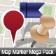 MAP MARKER MEGA PACK - 66 ICONS - GraphicRiver Item for Sale