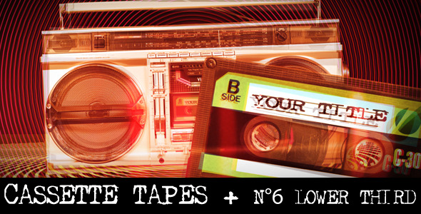 VideoHive Cassette Tapes Intro & Lower Thirds 2310650