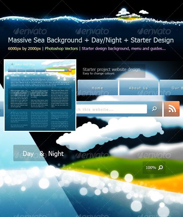 GraphicRiver Sea Background Design Starter Kit 86532