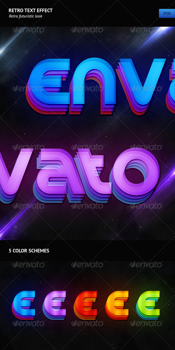 GraphicRiver Retro Text Effect 236150