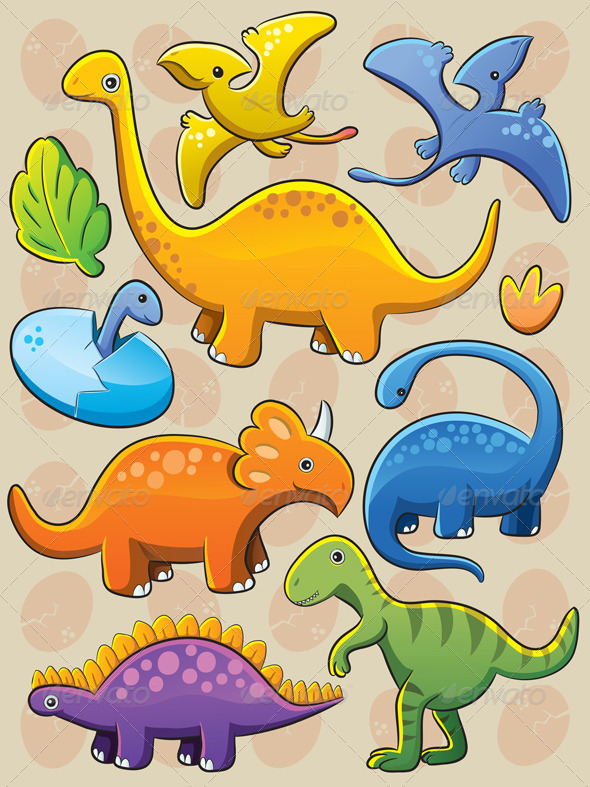 Graphic River Dinosaurs Collection Vectors -  Characters  Animals 2338490
