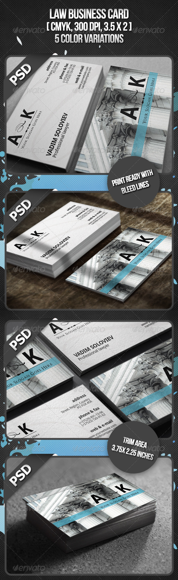 Graphic River Law Business Card Print Templates -  Business Cards  Industry Specific 738022