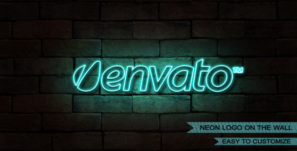 VideoHive Neon Logo on the Wall 2340685