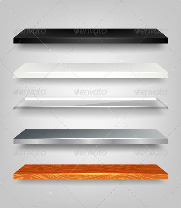 GraphicRiver Shelves Set 2341081