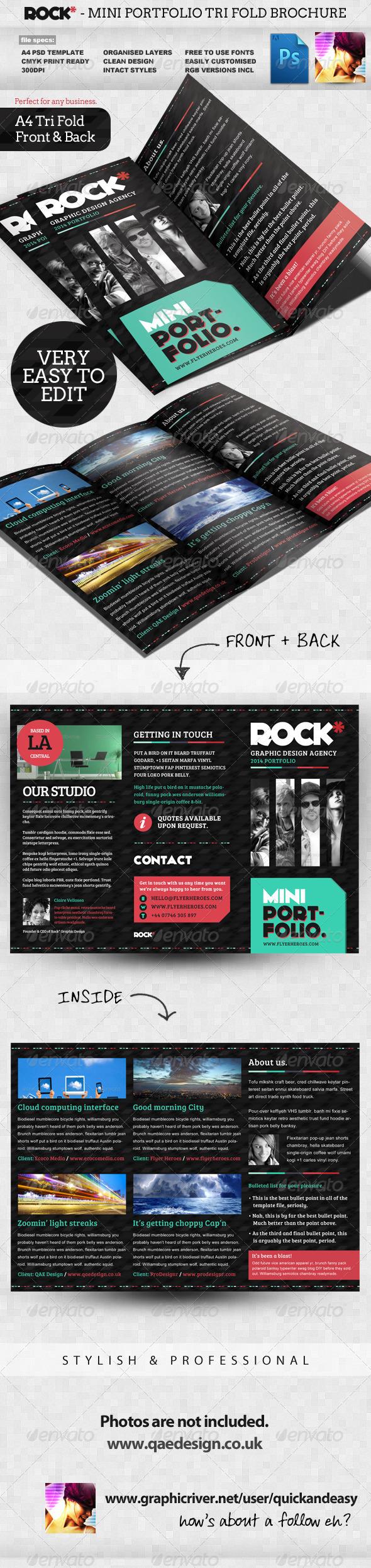 GraphicRiver Rock* Tri-fold Portfolio Template 2343584