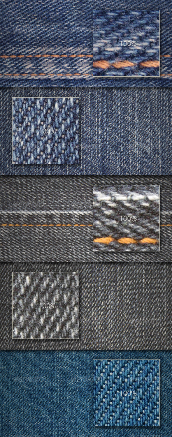 GraphicRiver Seamless jeans textures 86785