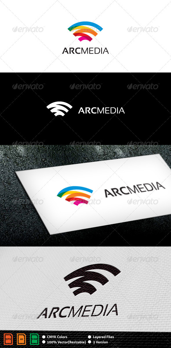 Graphic River Arc Media Logo Template Logo Templates -  Objects 2345893