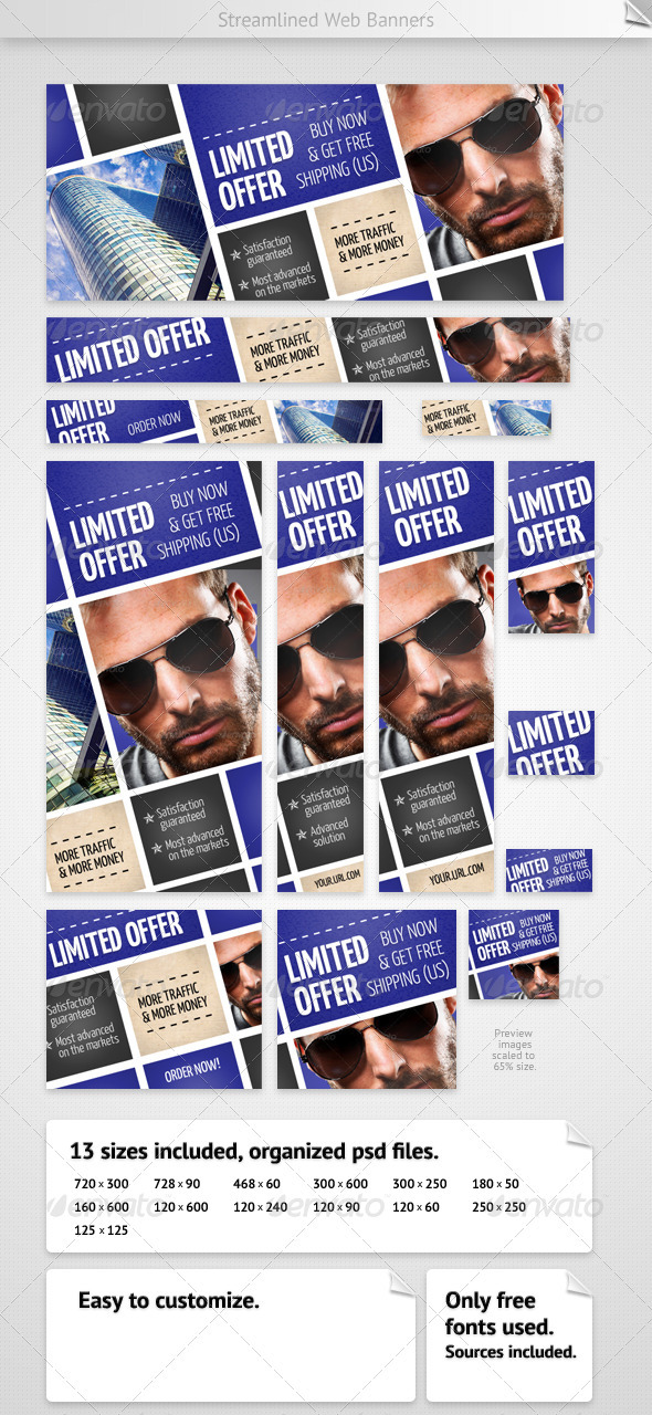 GraphicRiver Streamlined Web Banners 2347221