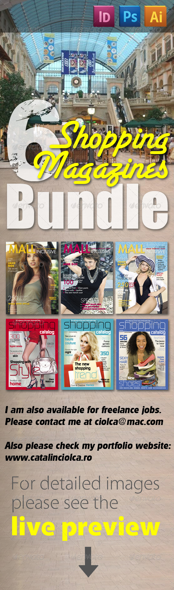 GraphicRiver 6 Shopping Magazines Bundle 2348328