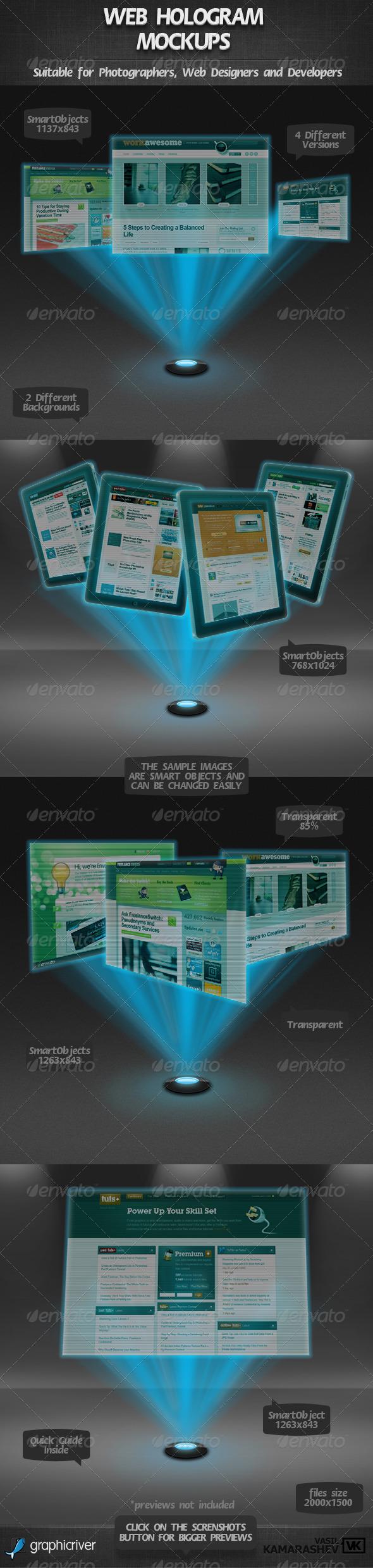 GraphicRiver Web Hologram Mockups 2348609