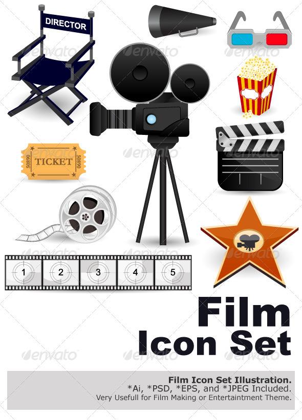 GraphicRiver Cinema Movie Icons 2348857