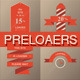Retro Preloaders Vector Set - GraphicRiver Item for Sale