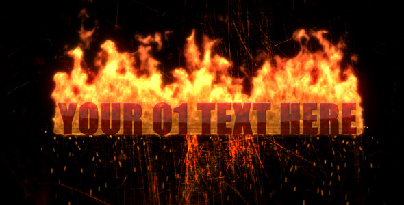 VideoHive Texts in Fireball 2348890