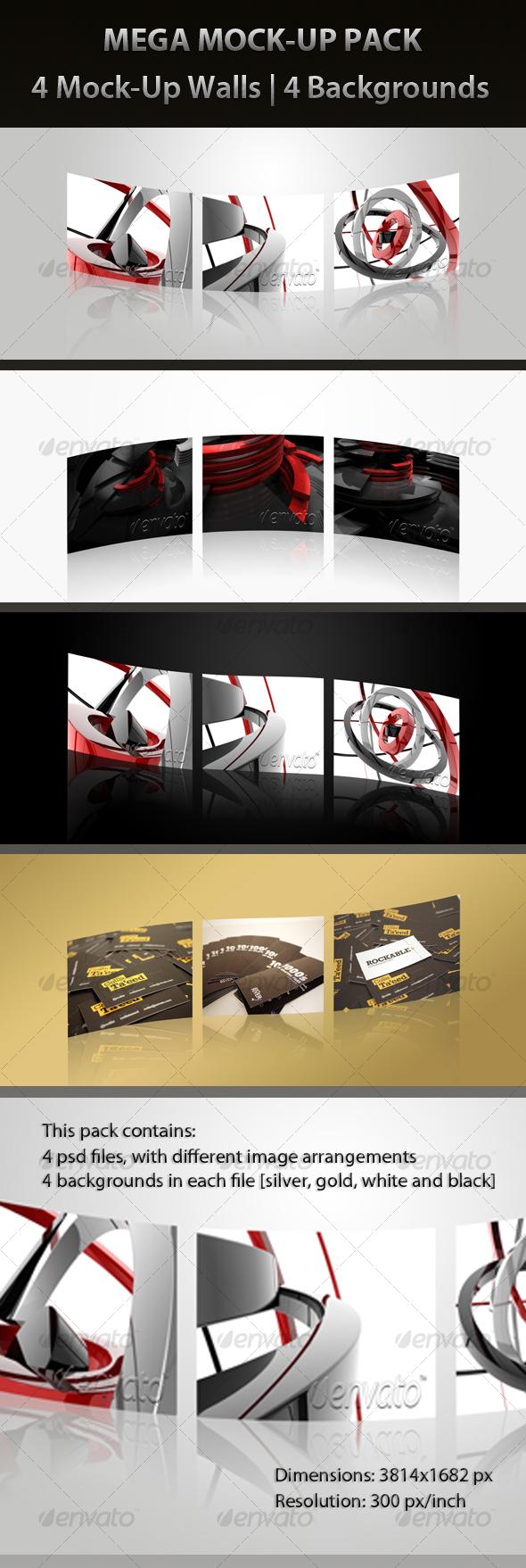 GraphicRiver MEGA MOCK-UP PACK 86916
