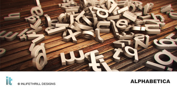 After Effects Project - VideoHive Alphabetica 2351602