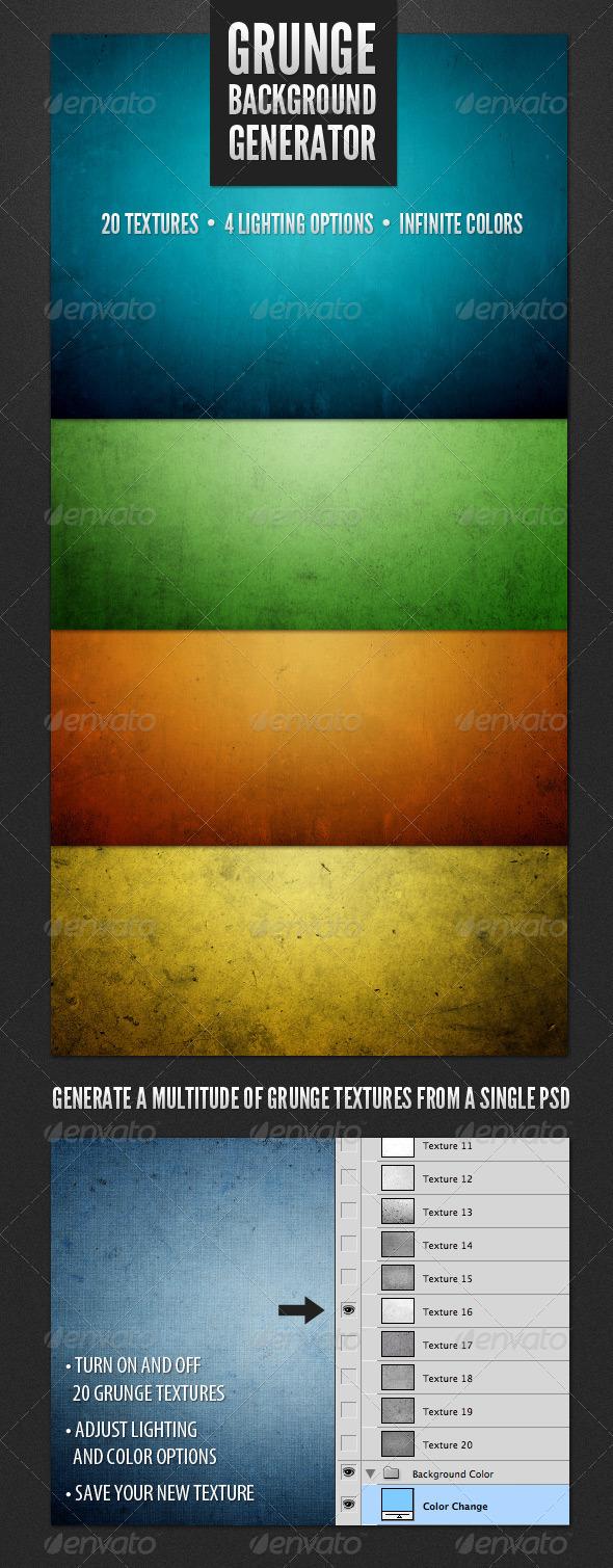 GraphicRiver Modern Grunge Background Generator 2352152