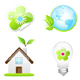 Collection of Nine Green Eco Icons - GraphicRiver Item for Sale