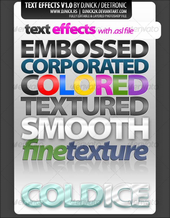 GraphicRiver photoshop text effects and styles 84705