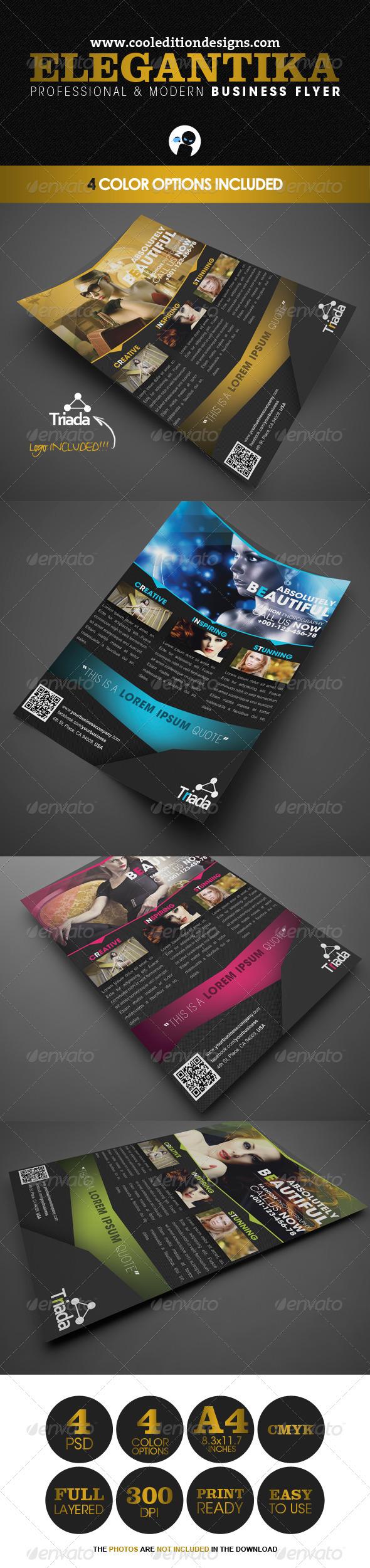 GraphicRiver Elegantika Professional & Modern Business Flyer 2353486