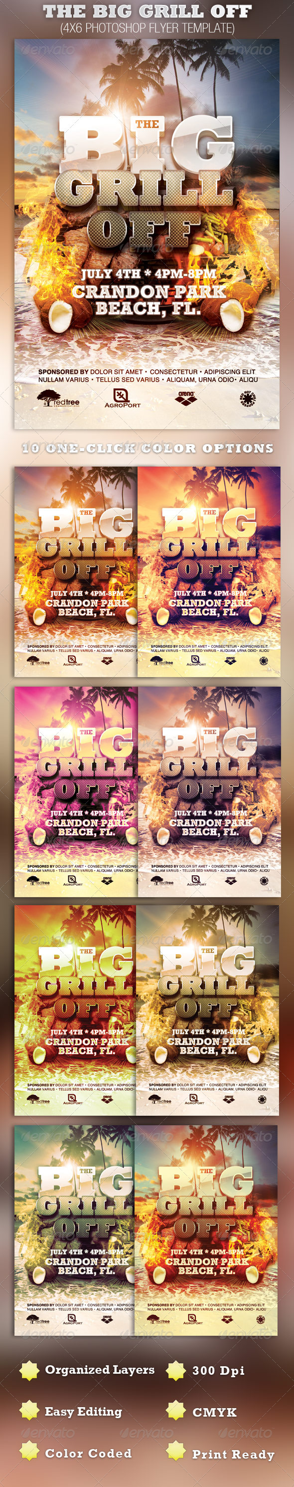 GraphicRiver The Big Grill Off Flyer Template 2353519