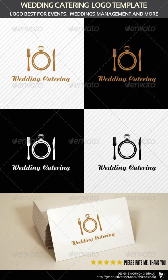 GraphicRiver Wedding Catering Logo Template 2320321