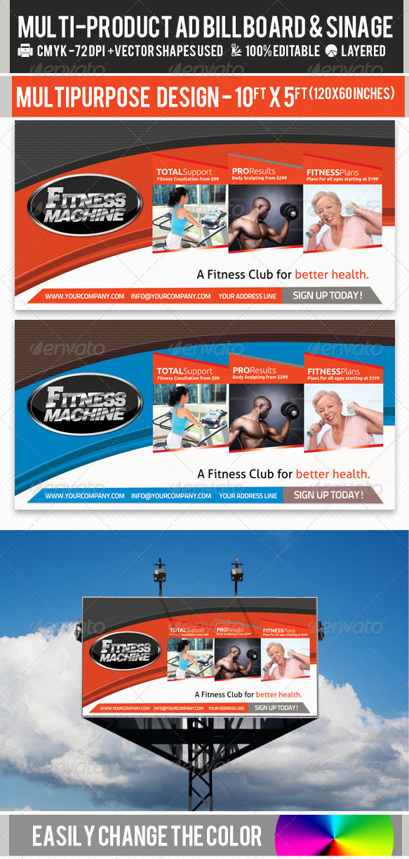 GraphicRiver Multi-Product-Ad-Sinage-Billboard PSD Template 2354992