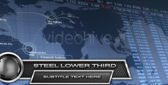 After Effects Project - VideoHive Steel Lower Third HD 2342740