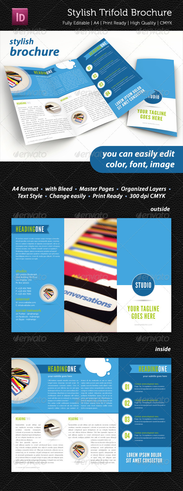 GraphicRiver Stylish Trifold Brochure 2346619