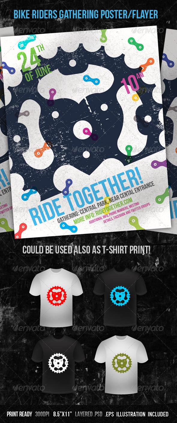 GraphicRiver Bike Riders Gathering Poster Flayer 266407