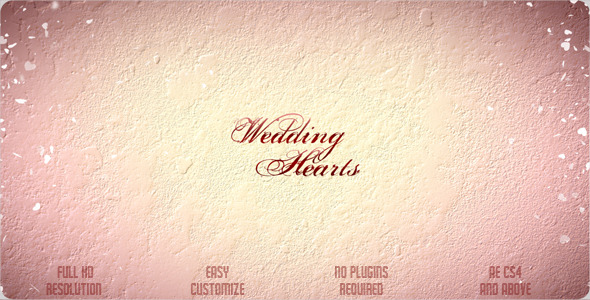 After Effects Project - VideoHive Wedding Hearts Slideshow 2360354