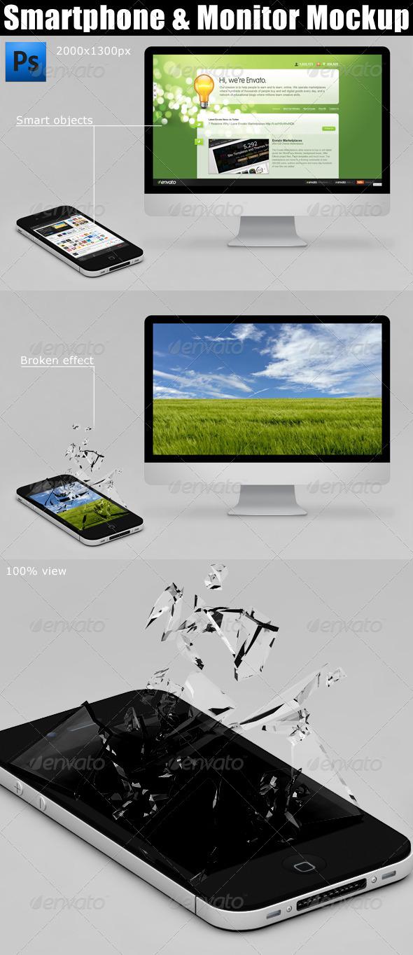 GraphicRiver Smartphone & Monitor Mockup 2362674