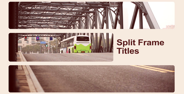 After Effects Project - VideoHive Split Frame Titles 2348613