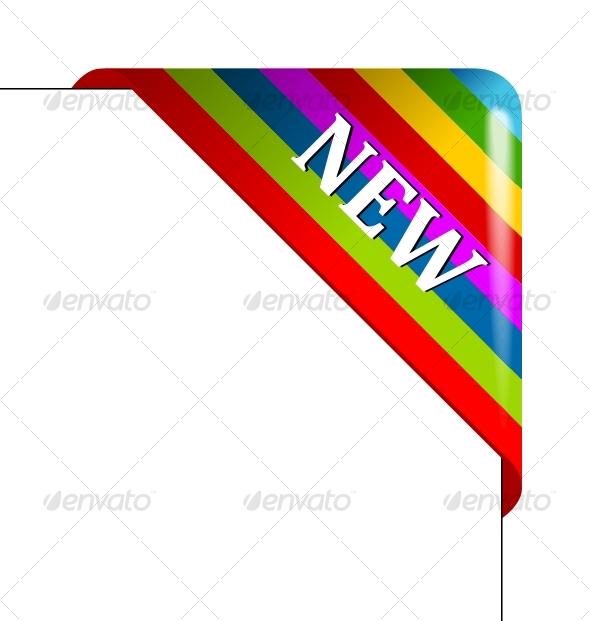GraphicRiver Vector color corner Business ribbon 87384