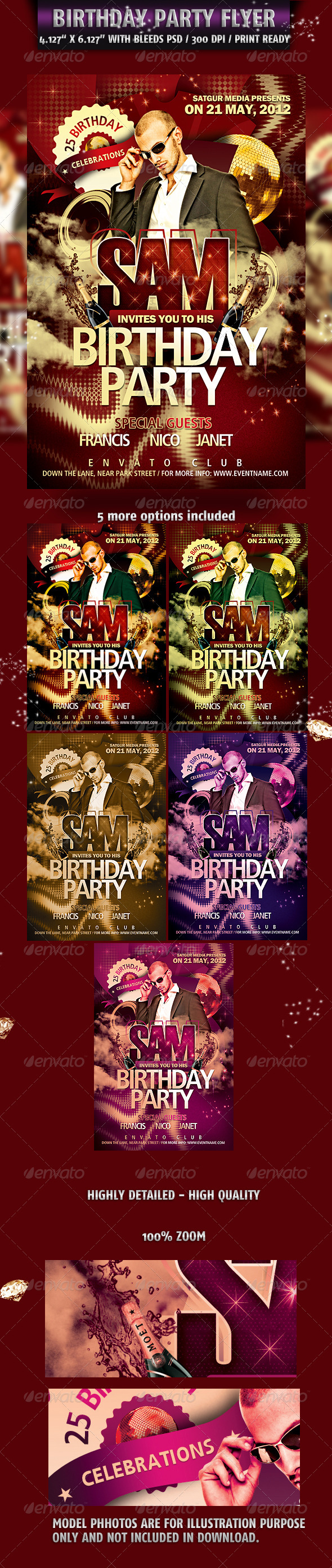 GraphicRiver Birthday Party Flyer 2349507