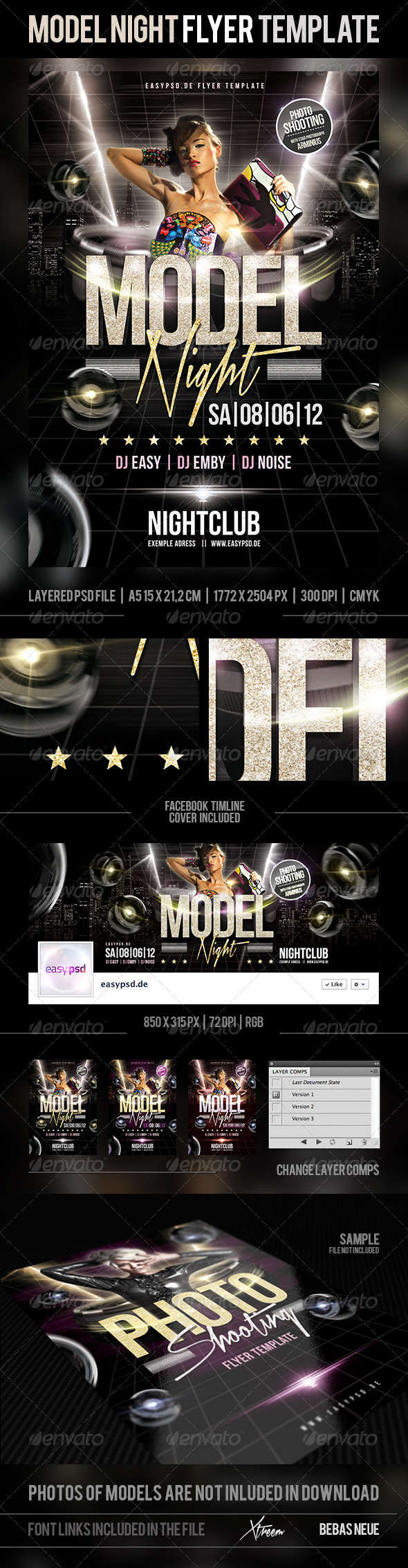 GraphicRiver Model Night Flyer Template 2365448