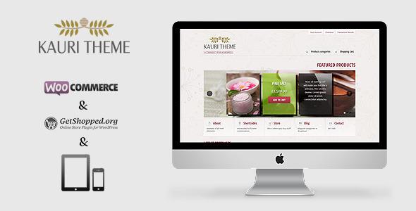 ThemeForest Kauri responsive theme for WP e-Commerce 1939210