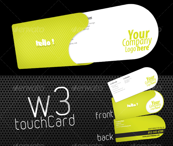 GraphicRiver W3 Touch Card 87493