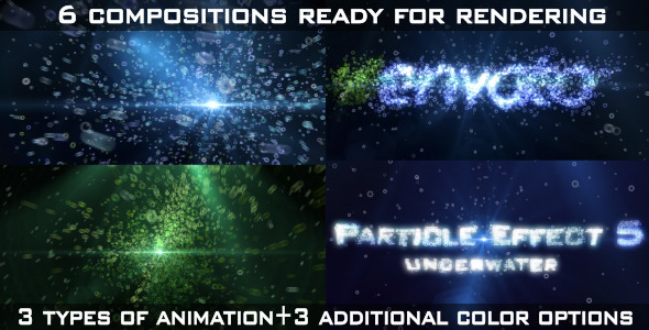 After Effects Project - VideoHive Particle Effect 5 Underwater 2366947