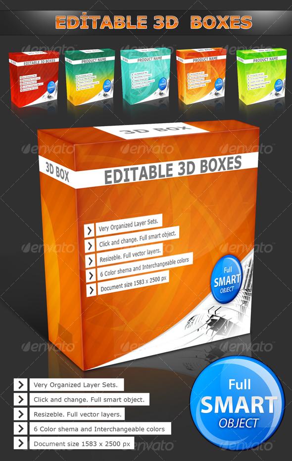 GraphicRiver 3D Boxes 87511
