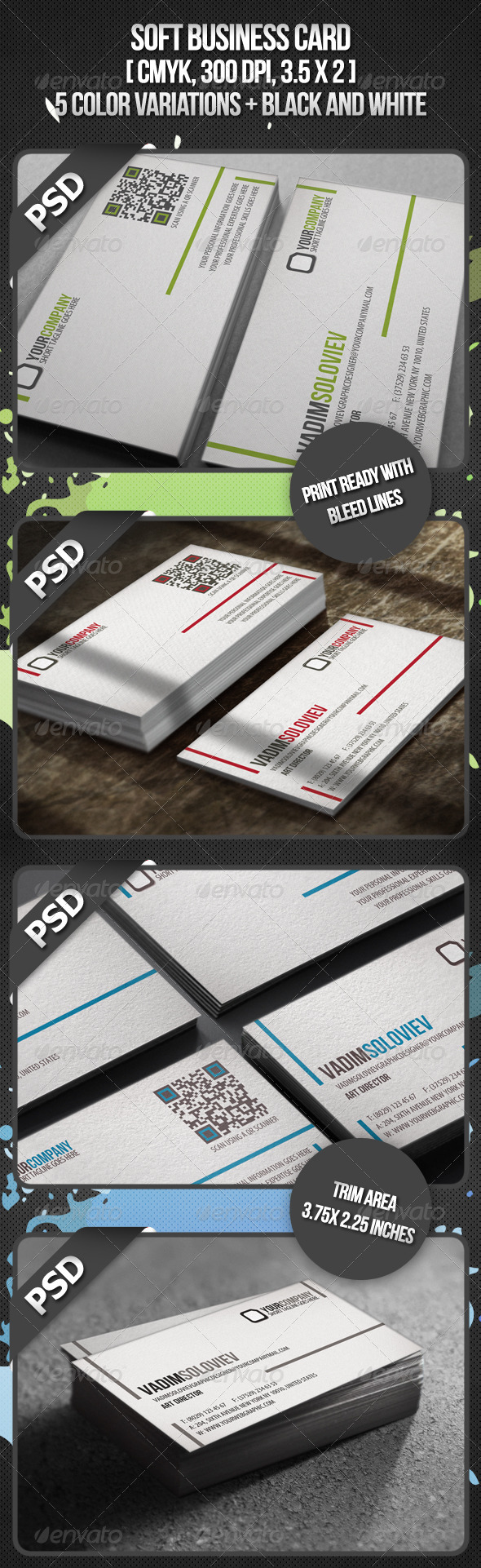 GraphicRiver Soft Business Card 2370279