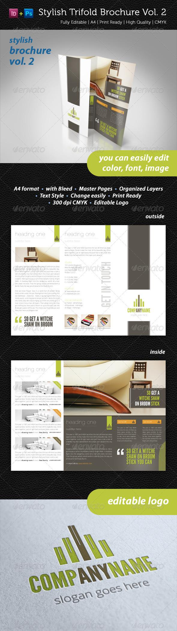 GraphicRiver Stylish Trifold Brochure Vol 2 2370972