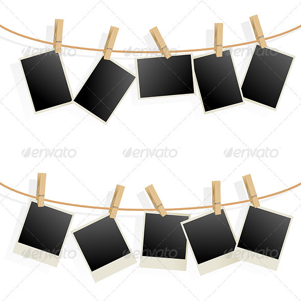 GraphicRiver Photo Frames on Rope 2371826