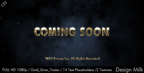 After Effects Project - VideoHive Gold Silver Cinematic Trailer 2372636