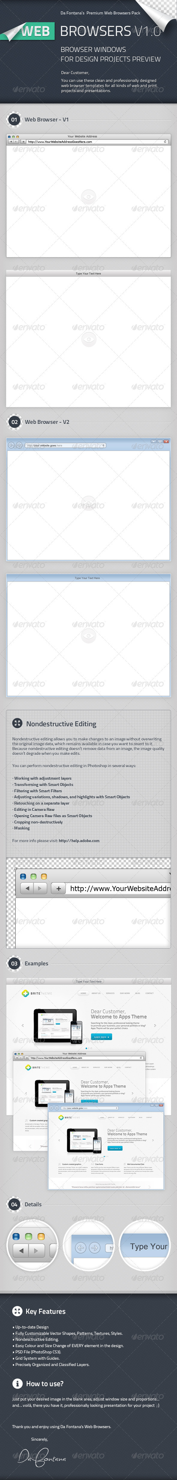 GraphicRiver Web Browser Templates 2350664