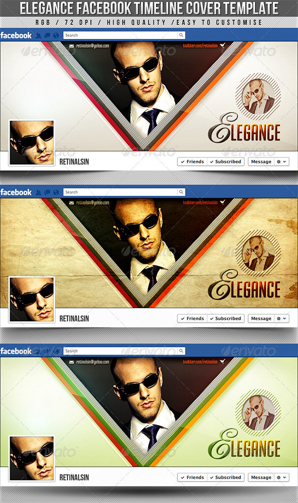GraphicRiver Elegance Facebook Timeline Cover 2355625