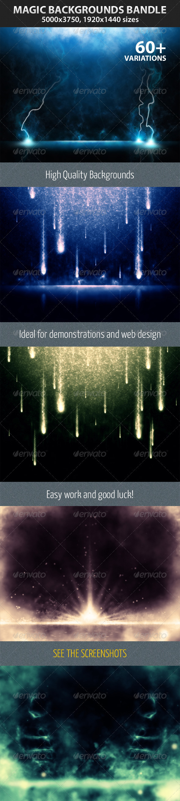 GraphicRiver Magic Backgrounds Bandle 2379237