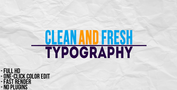 After Effects Project - VideoHive Typographic Presentation 2380098