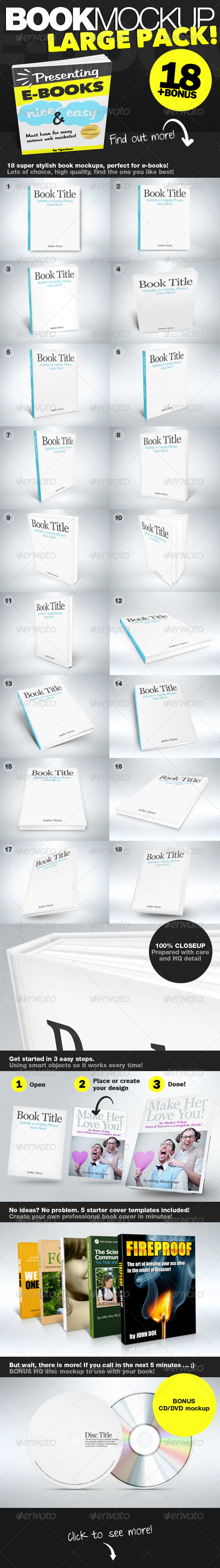 GraphicRiver Book Mockup LARGE Pack 1763550