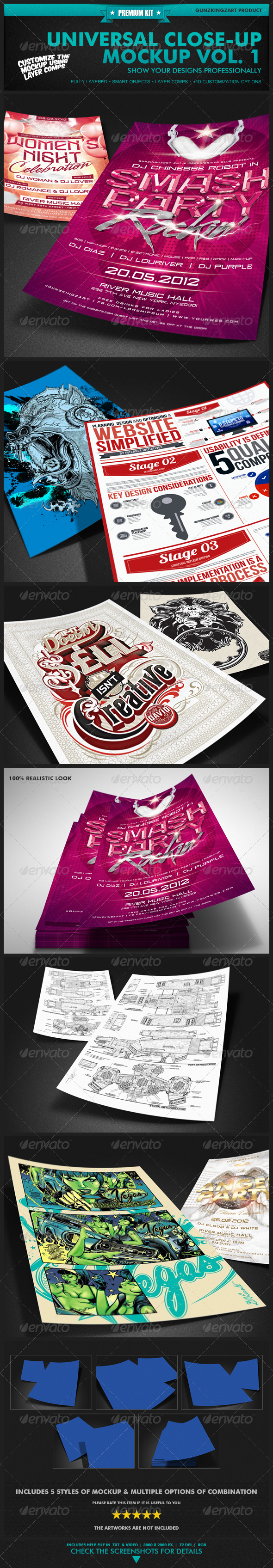 GraphicRiver Universal Closeup Mockup Vol 1 Premium Kit 2384558