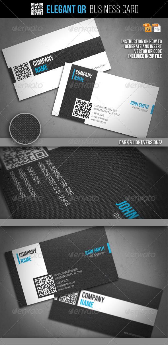 GraphicRiver Elegant QR Business Card 2386923